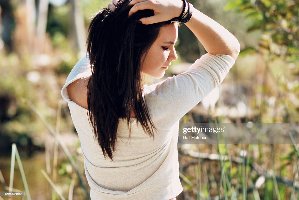 Girl in Nature : Stock Photo