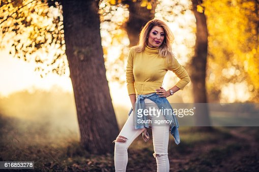 Girl in park outdoors : Stock Photo