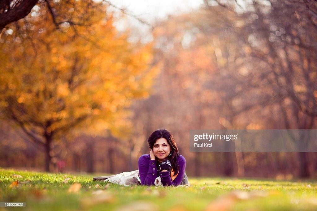 Girl in park : Stock Photo