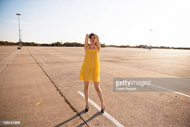Girl in parking lot