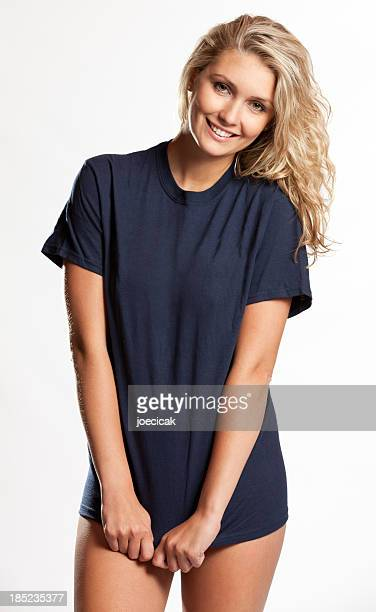 Girl in Plain T-shirt
