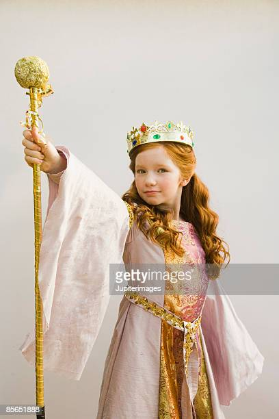 Girl in princess costume