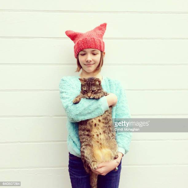 Girl in Pussy Hat