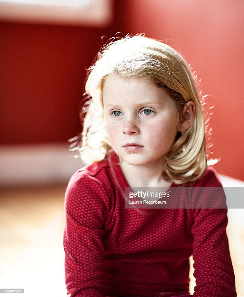 Girl in red : Stock Photo