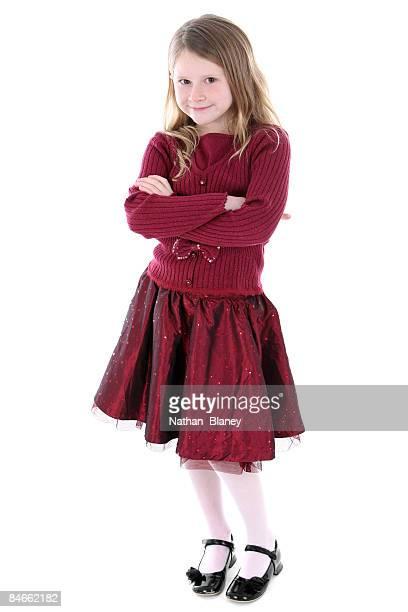 Girl in red.