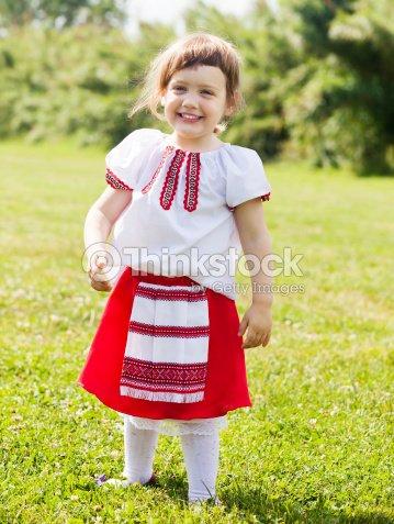 Madchen In Russische Folklore Kleidung Stock Foto Thinkstock