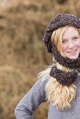 Girl in scarf
