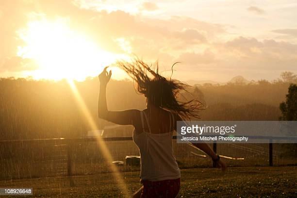 Girl in sunshine