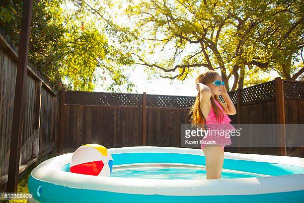 Paddling pool stock photos and pictures getty images for Garden paddling pools