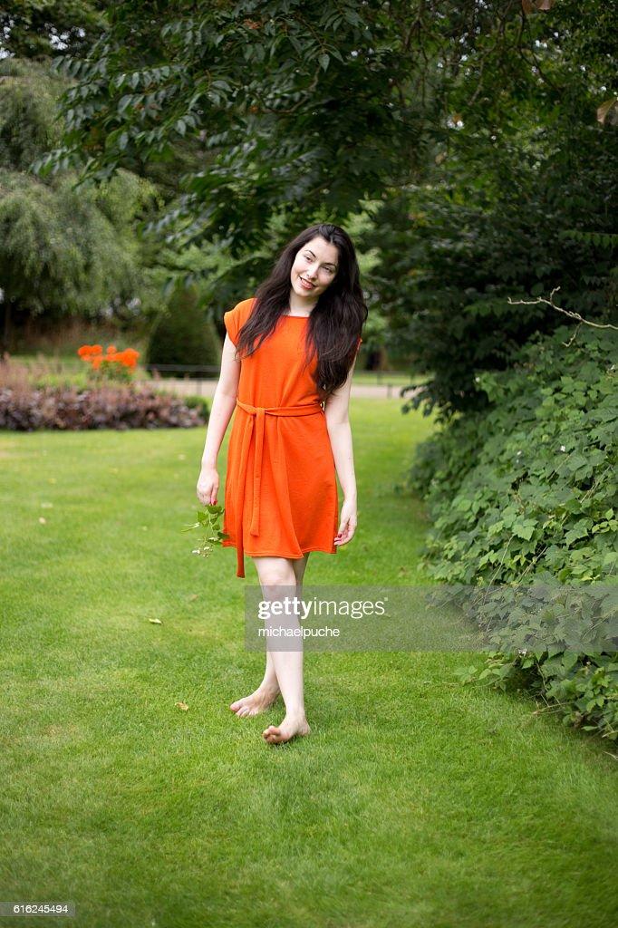 girl in the park : Stock Photo