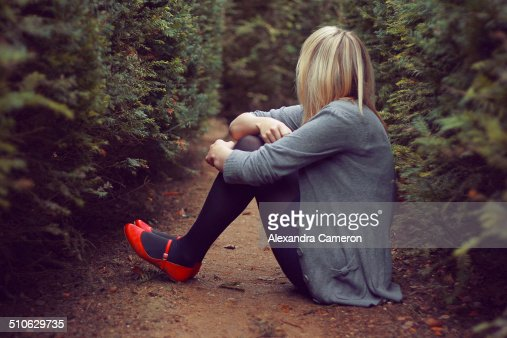 Girl In The Red Shoes Stock Photo | Getty Images