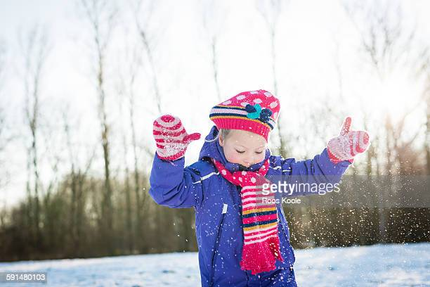 Girl in the snow