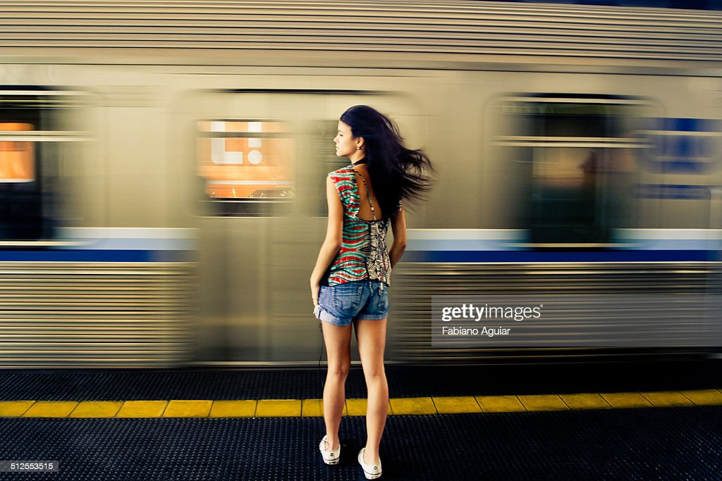 Girl in the subway