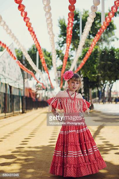 Girl In Traditional Flamenco