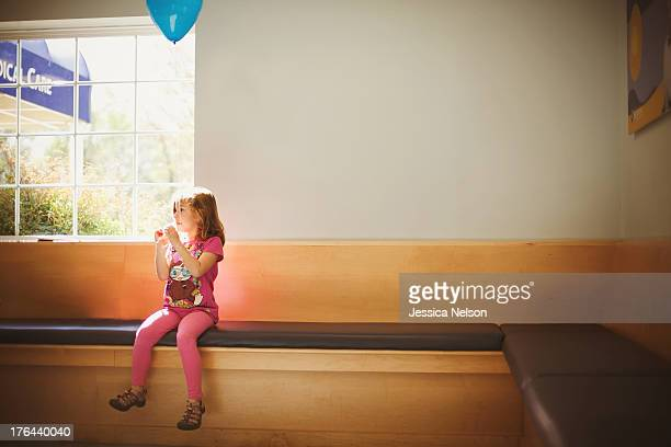 Girl in waiting room