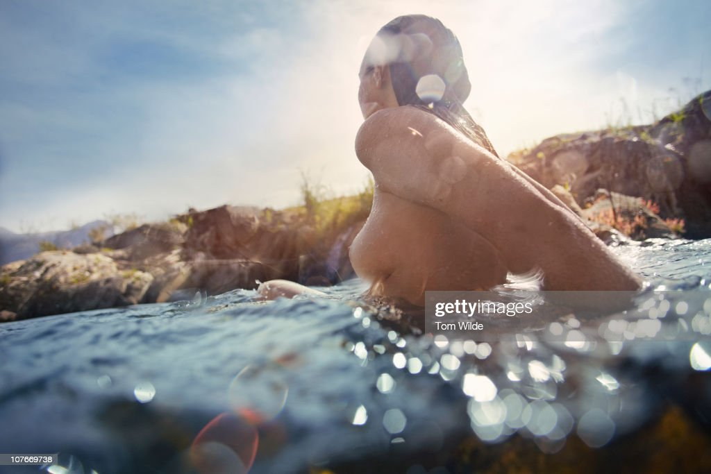 Girl in water : Stock Photo