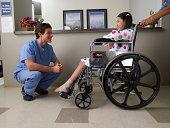 Girl in wheel chair