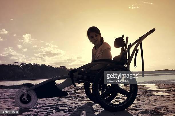 Girl In Wheelchair Looking