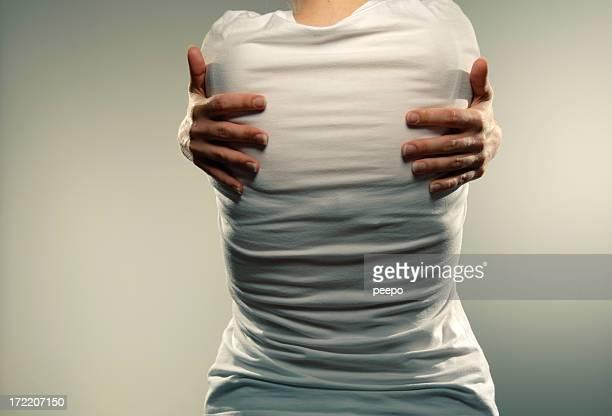 girl in white tee shirt series