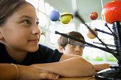 Girl Interested in Science