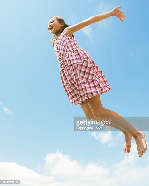 Girl Jumping In Air