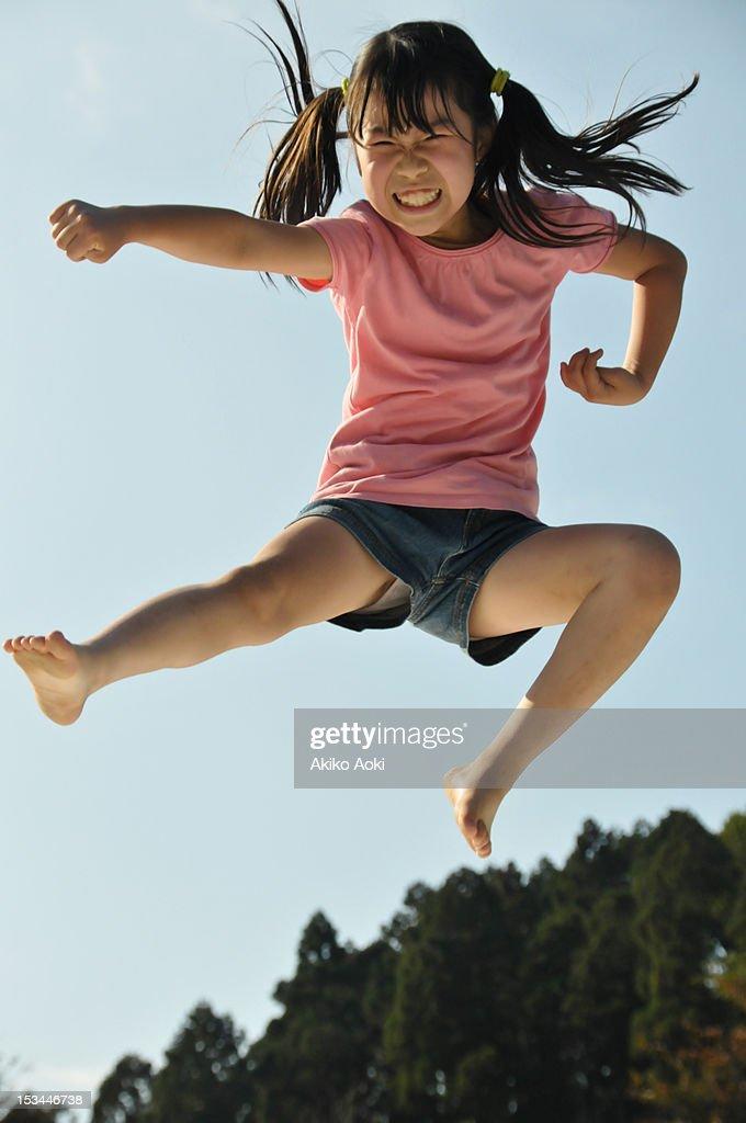 Girl jumping : Stock Photo