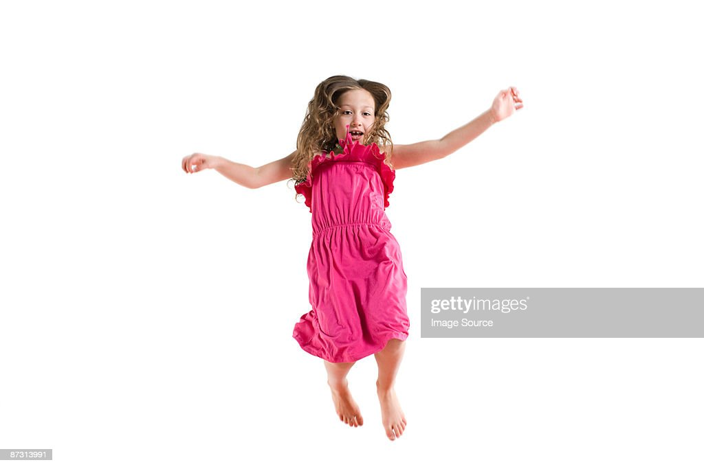 A girl jumping : Stock Photo
