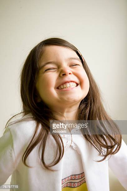 A girl laughing