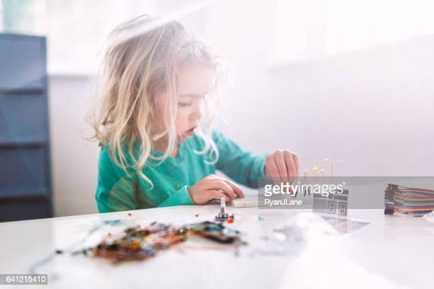 Girl Learning Electrical Engineering