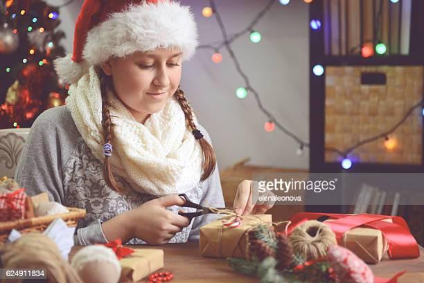 Mädchen, Weihnachten Geschenke