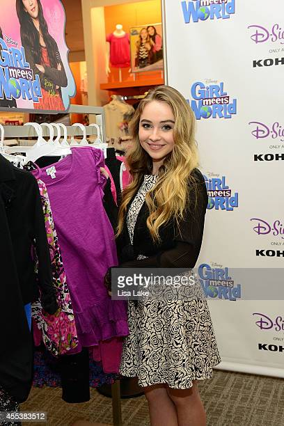Girl Meets World's Sabrina Carpenter meets with fans at the Kohl's store in her hometown of Quakertown Pennsylvania to celebrate Girl Meets World...