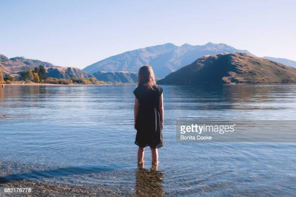 Girl of the lake. Glendhu Bay, Lake Wanaka