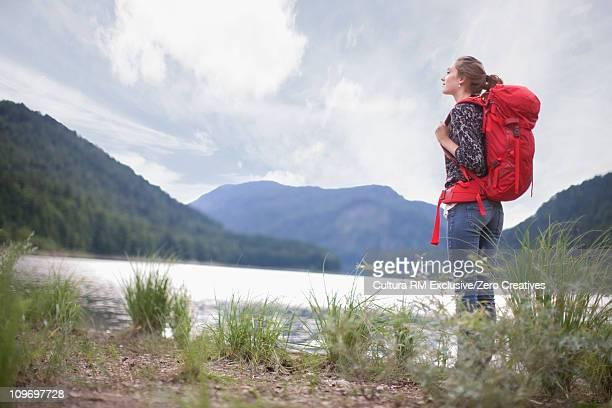 Girl on a mountain trip