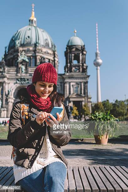 Girl on a vacation in Berlin