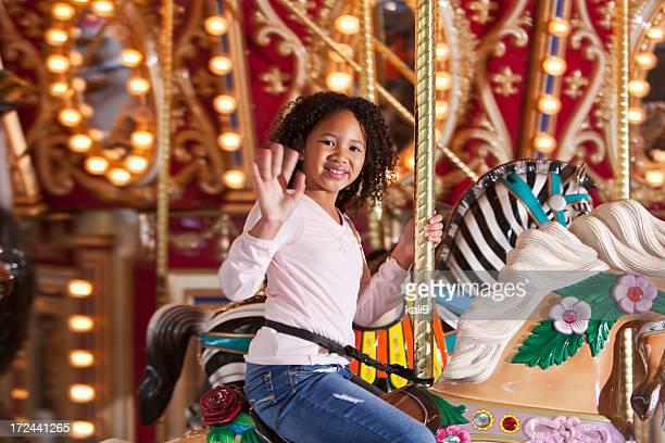 Fille sur Carrousel
