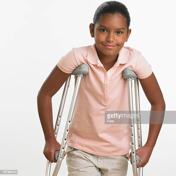Girl on Crutches