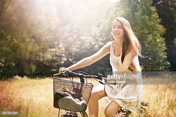 Girl on cycle