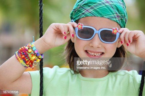 Girl on playground : Stock Photo