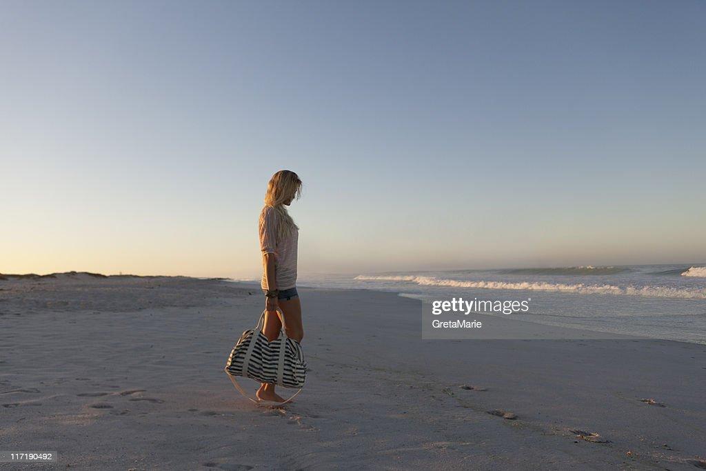 Girl on the Beach : Stock Photo