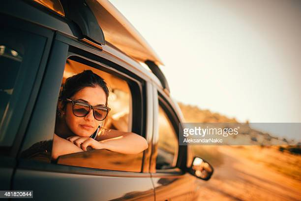 Girl on the road trip