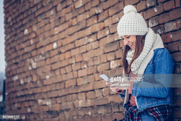 Girl outdoors on winter day