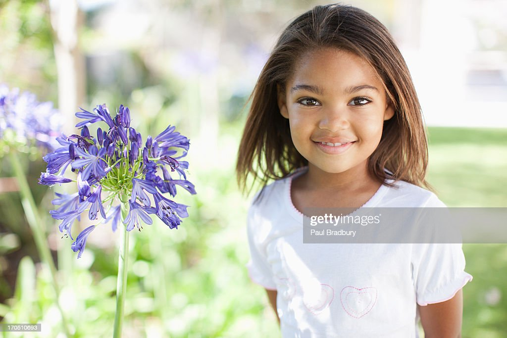 Girl outdoors, portrait : Stock Photo