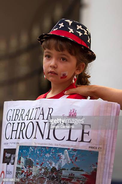 A girl participates in the costume contest during Gibraltar National Day celebrations on September 10 2014 in Gibraltar The official Gibraltar...