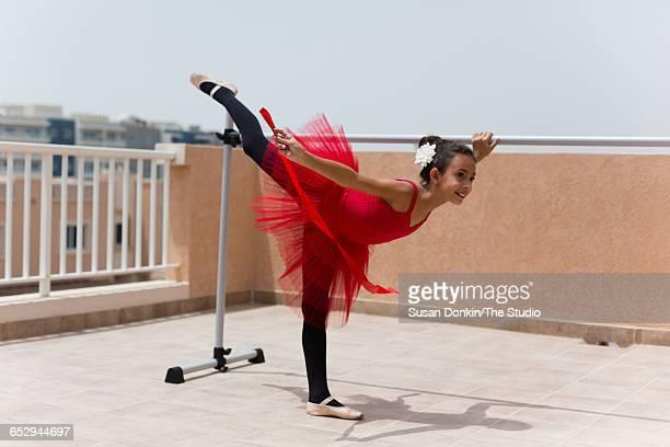 Girl performing ballet dance.