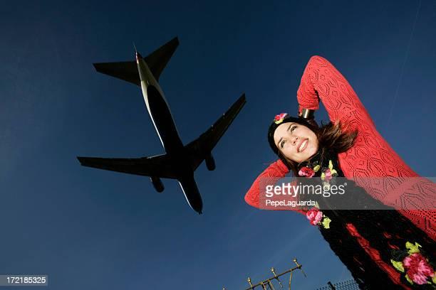 Fille & avion