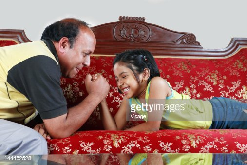 Girl dating her grandfather