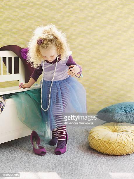 Girl Playing Dress Up