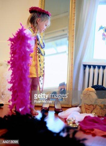 Girl Playing Dress-Up