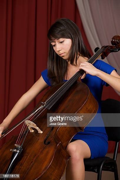 girl playing her cello