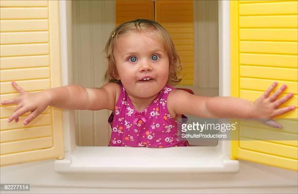 Girl Playing House